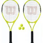 Wilson Energy XL 2 x Tennisracket + 3 Tennisbälle